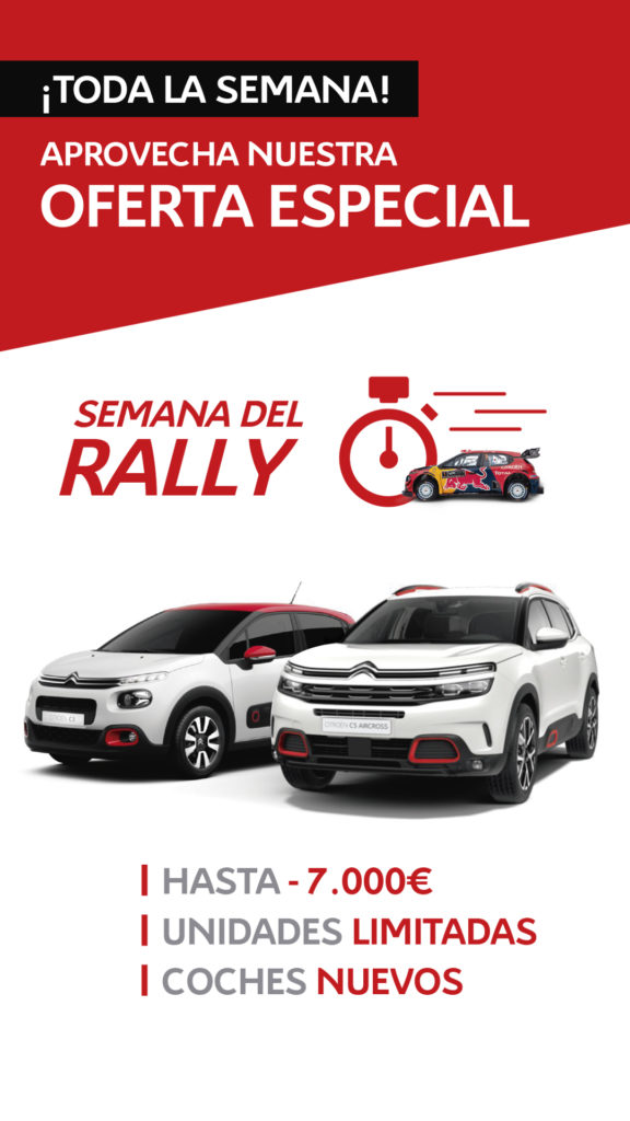 Oferta de Citroën en la semana del Rally